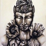 Bouddha aux fleurs d'opium